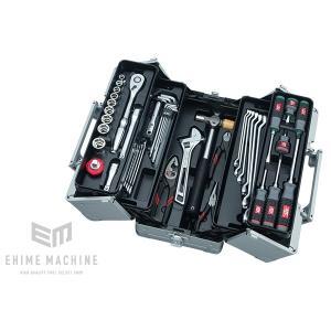 在庫少 KTC 12.7sq. 52点工具セット SK45219W (豪華特典付)メタリックシルバー  大型車・重機・農機用ツールセット|ehimemachine