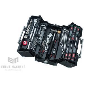 在庫少 KTC 12.7sq. 52点工具セット SK45219WGBK (豪華特典付)ブラック  大型車・重機・農機用ツールセット|ehimemachine