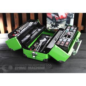 在庫有 KTC 工具セット 12.7sq. 52点ツールセット グリーン (豪華特典付) SK45218WGR ehimemachine