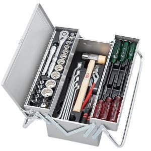 在庫少 KTC 12.7sq.51点工具セット SK45319M(豪華特典付)シルバー  一般機械整備用ツールセット|ehimemachine