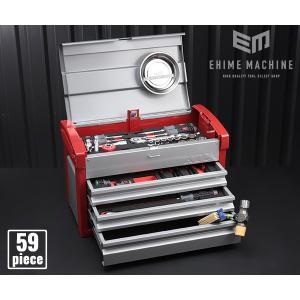 在庫有 KTC 工具セット 12.7sq. 59点ツールセット シルバー×レッド (豪華特典付) SK45918E ehimemachine