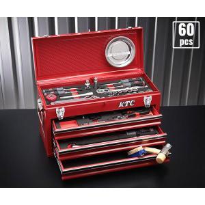 在庫有 KTC 工具セット 12.7sq. 60点ツールセット レッド (豪華特典付) SK46018X ehimemachine