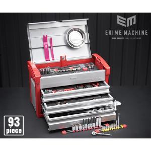 在庫有 KTC 工具セット 6.3sq./9.5sq. 93点ツールセット シルバー×レッド (豪華特典付) SK59318E|ehimemachine