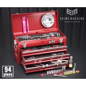 在庫有 KTC 工具セット 6.3sq./9.5sq. 94点ツールセット レッド (豪華特典付) SK59418X|ehimemachine