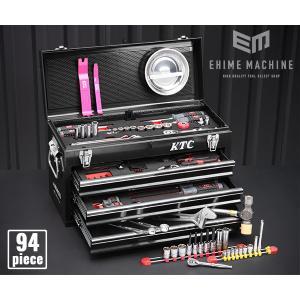 在庫有 KTC 工具セット 6.3sq./9.5sq. 94点ツールセット ブラック (豪華特典付) SK59418XBK|ehimemachine