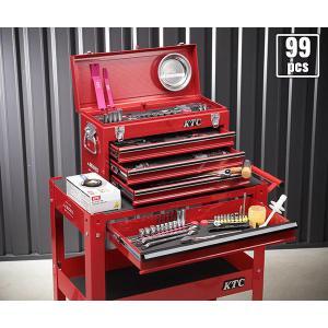 在庫有 KTC 工具セット 6.3sq./9.5sq. 94点ツールセット レッド (豪華特典付) SK59418XX|ehimemachine