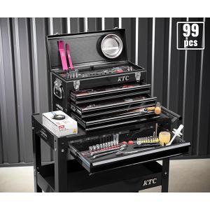 在庫有 KTC 工具セット 6.3sq./9.5sq. 94点ツールセット ブラック (豪華特典付) SK59418XXBK|ehimemachine