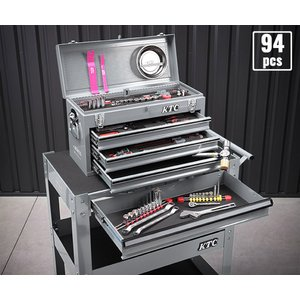 在庫有 KTC 工具セット 6.3sq./9.5sq. 94点ツールセット シルバー (豪華特典付) SK59418XXS|ehimemachine