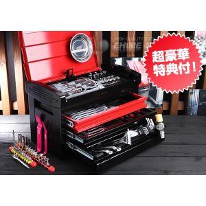 在庫有 KTC 工具セット 6.3sq./9.5sq. 93点ツールセット レッド×ブラック (豪華特典付) SK59318ER|ehimemachine