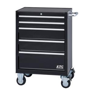[メーカー直送品] KTC ローラーキャビネット ブラック (5段5引出し) SKX3805BK|ehimemachine