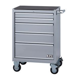 [メーカー直送品] KTC ローラーキャビネット シルバー (5段5引出し) SKX3805S|ehimemachine