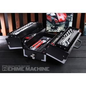 [メーカー直送品][TONEセール2019] TONE TSS433119BK メンテナンス用ツールセット 12.7sq. 53点 ツールセット マットブラック トネ 購入特典付き|ehimemachine