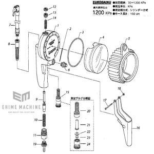 ミシュラン タイヤゲージ1200kpa WD-1991用部品です。  ■メーカー:ミシュラン(イタリ...