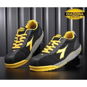 [新商品] DIADORA WATERFOWL ウォーターフォール ブラック×イエロー×ブラック WF-252 安全靴 スニーカー ディアドラ ehimemachine