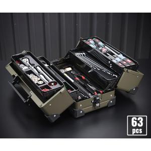 【KTC】 SK36320WZODEM 9.5sq. 63点工具セット オリーブドラブ オリジナルツールセット EK-10AODEM 採用モデル ehimemachineyshop