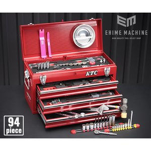 【KTC】 6.3sq./9.5sq. 96点工具セット SK59620X(豪華特典付)レッド  プロフェッショナルモデル SKX0213 採用モデル ehimemachineyshop