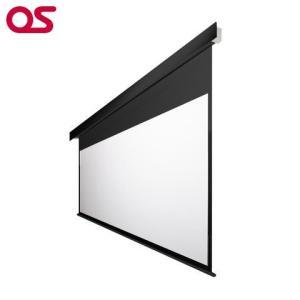 90インチ 電動 スクリーン フルHD対応(ピュアマット204) OS オーエス EP-090HM-MRK1/MRW1-WF204(黒/白パネル)|ehome