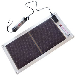 日本製 5.4W ソーラーシートチャージャー + 2600mAh LEDライト付 防水チャージャー セット GN-050B1|ehome