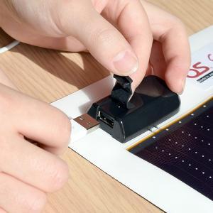 日本製 5.4W ソーラーシートチャージャー + 2600mAh LEDライト付 防水チャージャー セット GN-050B1 ehome 09
