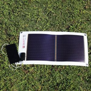 日本製 5.4W ソーラーシートチャージャー + 3300mAh モバイルバッテリー セット GN-050B2 ehome 09