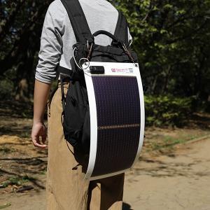 日本製 5.4W ソーラーシートチャージャー + 3300mAh モバイルバッテリー セット GN-050B2 ehome 11