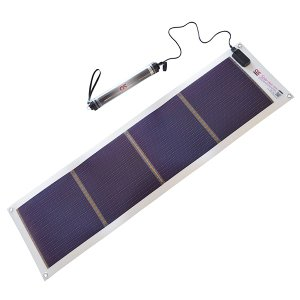 日本製 10.8W ソーラーシートチャージャー + 5200mAh LEDライト付 防水チャージャー セット GN-100B1|ehome