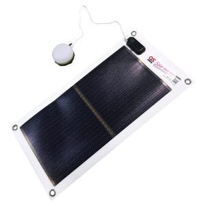 日本製 5.4W ソーラーシートチャージャー + USB充電式LEDランタン/1800mAh モバイルバッテリー ・ OS オーエス ソーラーシートチャージャーセット GSB-0500-DC|ehome