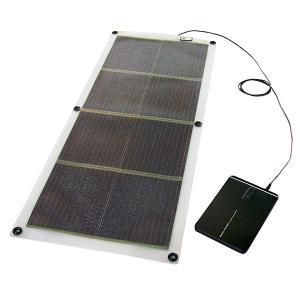 「16W ソーラー発電シート + ノートPC対応バッテリー」 モバイルソーラーセット GSS-1016B(オーエス)|ehome