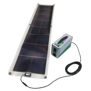 「32W-12V モバイルソーラーシート + ポータブル蓄電池」 モバイルソーラーセット GSS-1032B(オーエス)|ehome