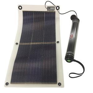 OS オーエス 「4.2W ソーラーシート + 5200mAh 防水チャージャー/LEDライト付」 コンパクトソーラー GT-200|ehome