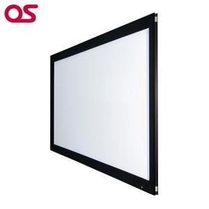 80インチ 張込 スクリーン 4K対応(ピュアマットIIIシネマ) OS オーエス PX-080H-WF302(フロッキー枠)|ehome