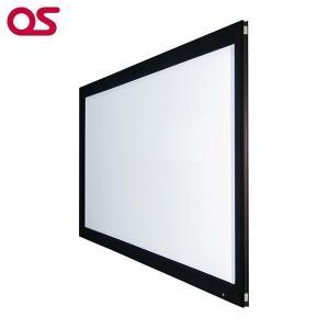 100インチ 張込 スクリーン 4K対応(ピュアマットIIIシネマ) OS オーエス PX-100H-WF302(フロッキー枠)|ehome