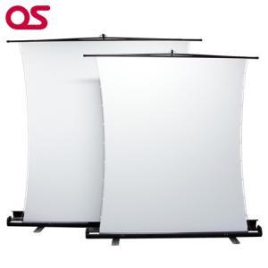 自立型 63インチ サイドテンション プロジェクタースクリーン/OS オーエス 63インチ(アスペクトフリー)SVS-63FN-H|ehome