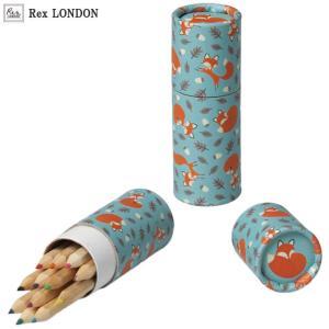 可愛い 色鉛筆/ラスティ(RUSTY) 12色 シンプルながら目を引くキツネ ロンドン生まれ Rex LONDON|ehon-netcom