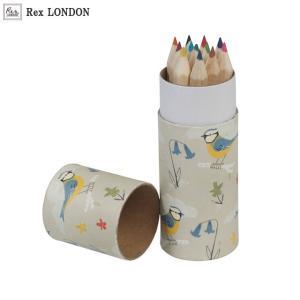 可愛い 色鉛筆/ブルーティット(BLUE TIT) 12色 青い小鳥のデザインがナチュラル ロンドン生まれ Rex LONDON|ehon-netcom