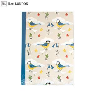 可愛い ノート(A5)/ブルーティット(BLUE TIT) 青い小鳥のデザインがナチュラル ロンドン生まれ Rex LONDON|ehon-netcom