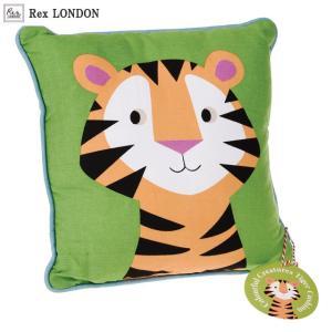 クッション/タイガー(TIGER) Rex LONDON まんまるな目をしたトラが目を引くカラフルクリーチャーズシリーズのクッション|ehon-netcom