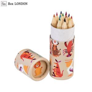可愛い 色鉛筆/クリーチャーズ(CREATURES) 12色 鮮やかな色使いとたくさんのキャラクター ロンドン生まれ Rex LONDON|ehon-netcom