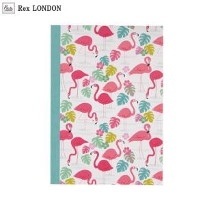 可愛い ノート(A5)/フラミンゴ(FLAMINGO) ポップで華やかなデザインが女の子らしい ロンドン生まれ Rex LONDON|ehon-netcom