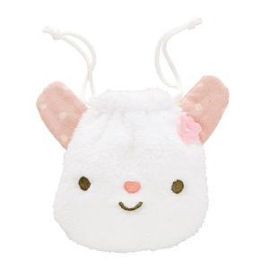 巾着バッグ・シュシュフル(Pink) 巾着ポーチ 巾着袋 誕生日 お祝い 記念日 ぬいぐるみ キャラクター|ehon-netcom