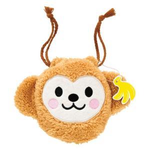 モンキー巾着バッグタッグ付 誕生日 お祝い 記念日 ぬいぐるみ モンキー 巾着バッグ タッグ付き キャラクター|ehon-netcom
