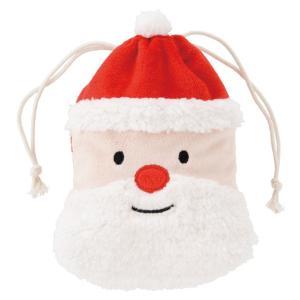 クリスマスサンタ巾着バッグ-S クリスマスプレゼント クリスマス サンタ 巾着バッグ キャラクター|ehon-netcom