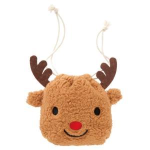 クリスマストナカイ巾着バッグ-S クリスマスプレゼント クリスマス トナカイ 巾着バッグ キャラクター|ehon-netcom