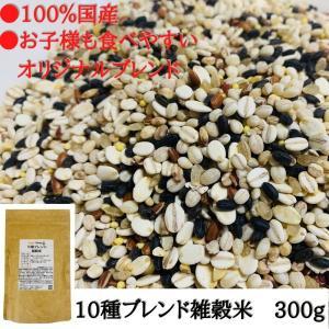 雑穀米 送料無料  国産 10種 黒米 赤米 緑米 発芽 玄米 小豆 大豆 きび あわ 麦 チャック付き 300g eight-shop