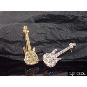 ブローチ ベースギター Bass シルバー ゴールド 4弦 ...