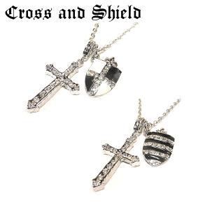 ネックレス 十字架 クロス 盾 ブレード シルバー ゴールド ゴシック Rock V系 アメカジ バンギャ バイカー ロック|eightchannel