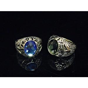 指輪 カレッジリング イーグル シルバー ブラック ブルー オニキス 幸運 勇者 きれいめ アメカジ シブカジ|eightchannel