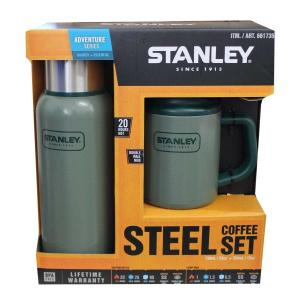 STANLEY スタンレー STEEL COFFEE SET 真空断熱ボトル739ml キャンプマグ354ml 2点セット グリーン 新品 送料無料 eightloop
