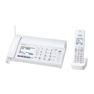 パナソニック Panasonic デジタルコードレスFAX 子機1台付き 電話機 KX-PD304DL-W ホワイト 新品 送料無料|eightloop