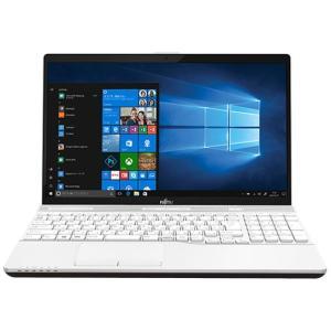 富士通 FUJITSU FMVA45C2W LIFEBOOK HDD 1TB Blu-rayドライブ Windows10 Office2016 プレミアムホワイト 新品 送料無料 eightloop